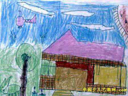 我的家鄉兒童畫15幅(第2張)