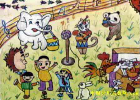 音乐会儿童画7幅(第3张)