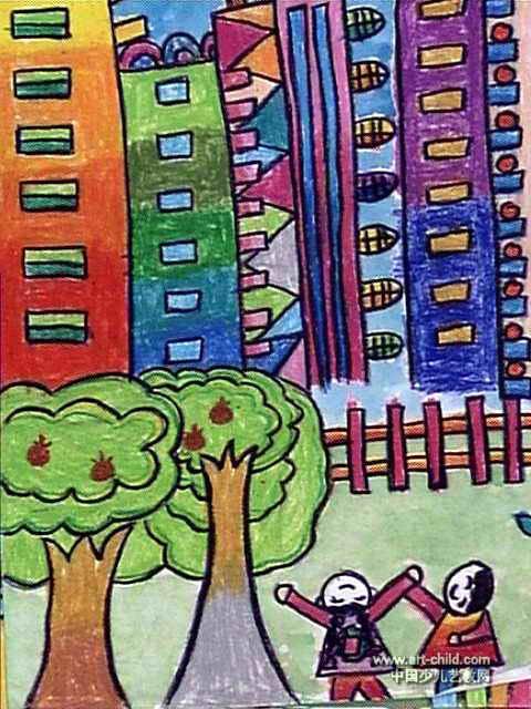 我的家鄉兒童畫15幅(第4張)