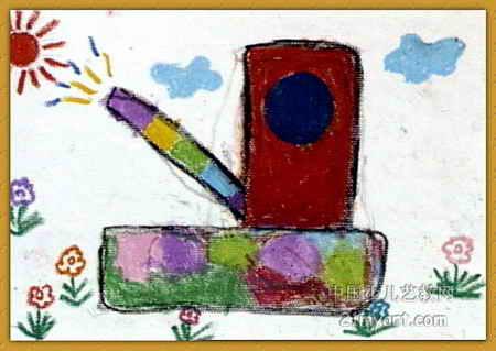 梦幻坦克儿童画图片