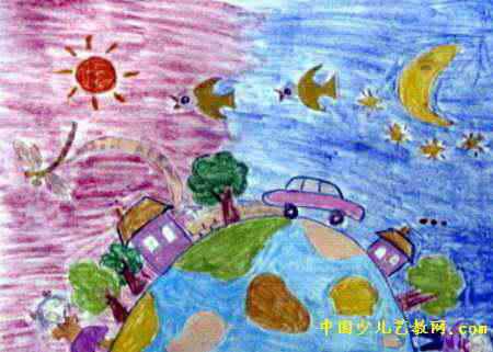 中秋节的画儿童画展示