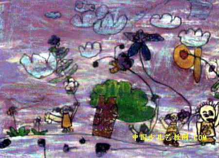 梦幻童年儿童画属于油画棒画