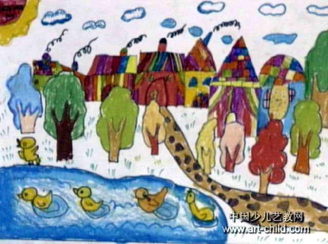 美丽的家园儿童画15幅(第5张)