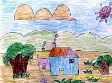 我的家乡儿童画15幅(第7张)