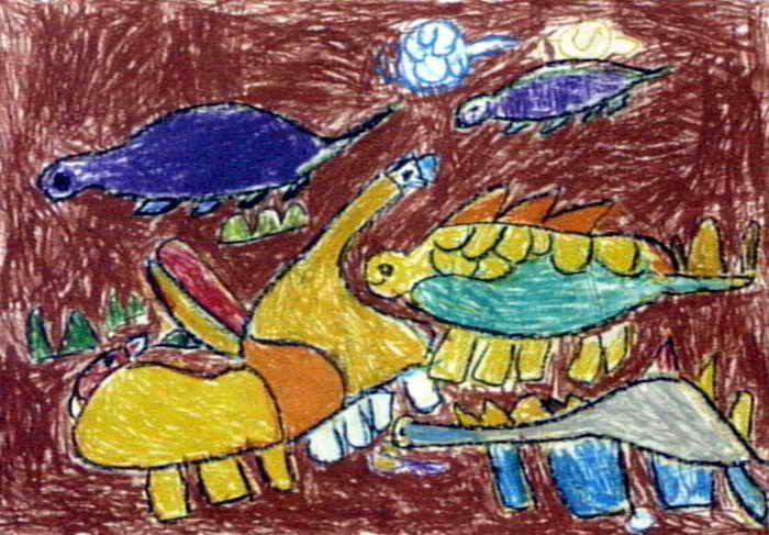 恐龙世界儿童画(一)8幅(第2张)