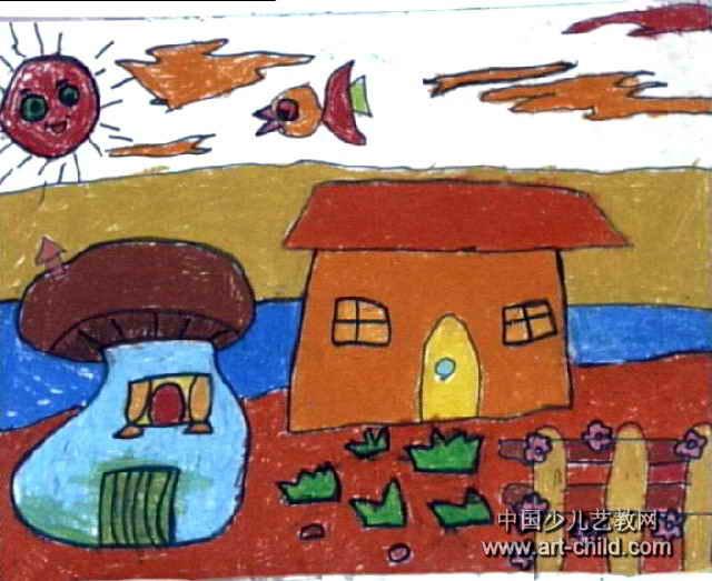 我心目中的家儿童画作品欣赏