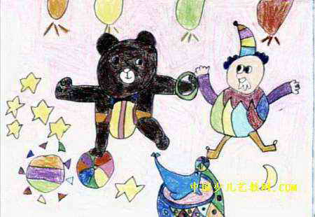 小熊当主角儿童画