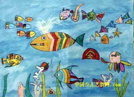 儿童油画棒海底世界