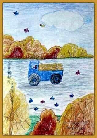 家乡的秋天 我爱家乡 我爱家乡手抄报图片 秋天大自然风景高清图片