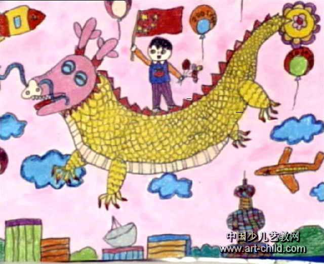 腾飞的中国龙手抄报图片