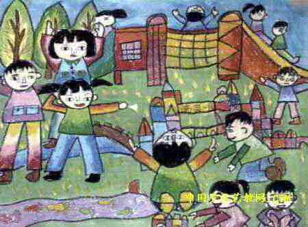 幼儿园多快乐儿童画