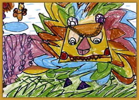 狮子儿童画(二)8幅