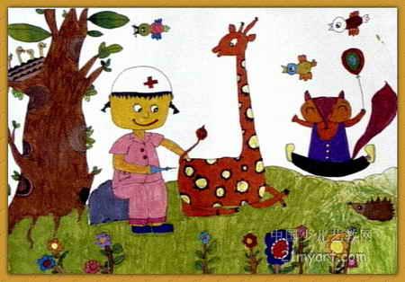 森林医生儿童画6幅(第4张)图片