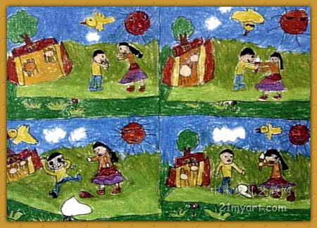 冰淇淋的故事儿童画
