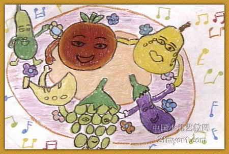 果蔬音乐会儿童画