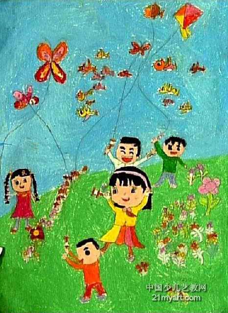 儿童油画棒简笔画_春天来了儿童画(二)7幅