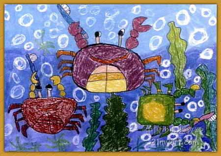 海底清洁工儿童画