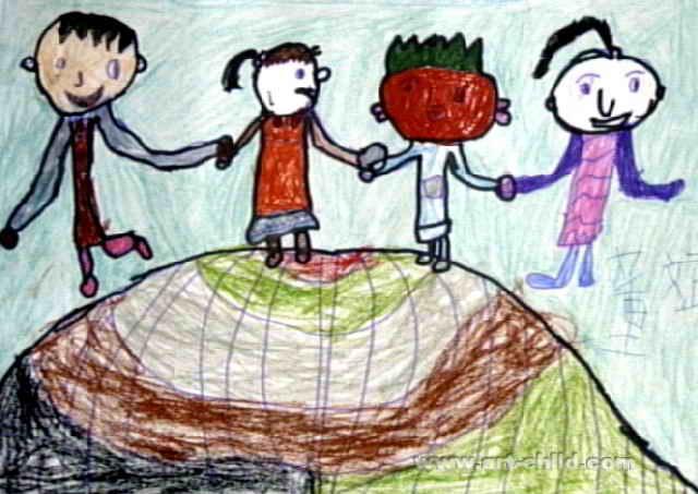 全世界儿童是一家儿童画2幅