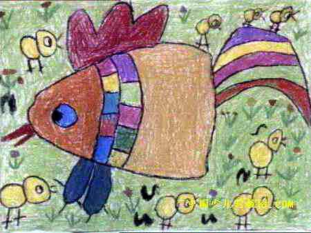 快乐的一家儿童画 三 8幅 第7张