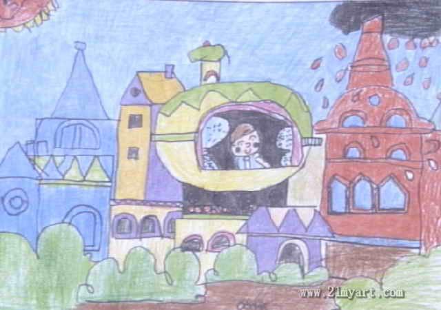 儿童画房子油画棒图片大全_儿童画房子油画棒图片 ...