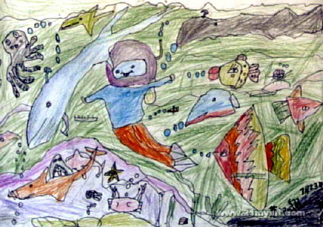 海底世界儿童画(六)8幅(第3张)