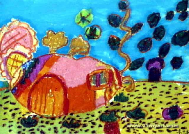 我的萝卜房子儿童画图片