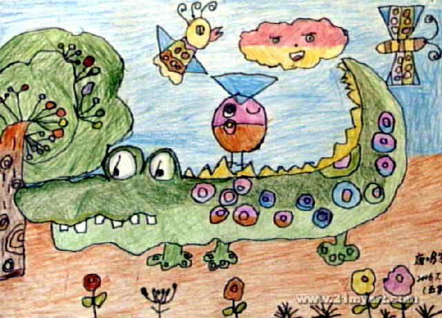 动物世界儿童画10幅(第5张)图片