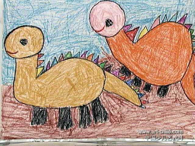 大恐龙儿童画3幅(第2张)