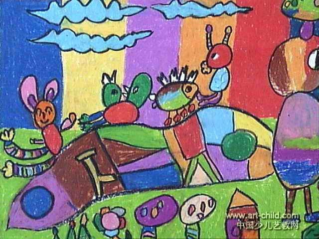 动物乐园儿童画15幅(第11张)