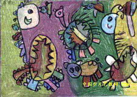 动物运动会儿童画5幅