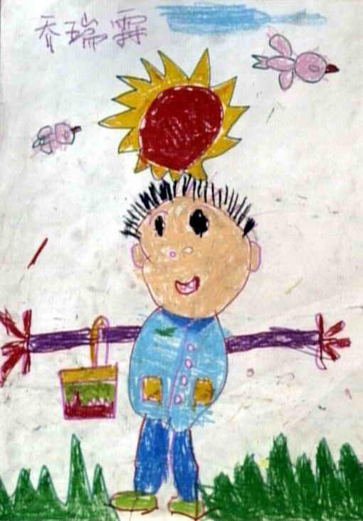 春天来了儿童画 一 8幅