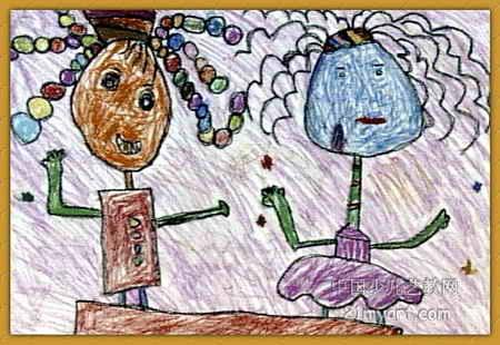 模特表演儿童画,这幅中国画作品长310px