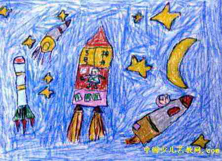 航天英雄儿童画