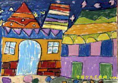棒画尺寸为318x450像素,作者李嘉良,男,5岁,来自郑州市国棉五厂幼儿园图片