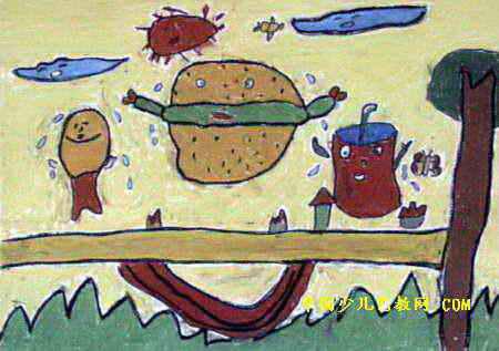 肯德基的朋友儿童画