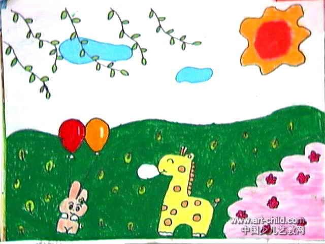 寻找春天儿童画作品欣赏