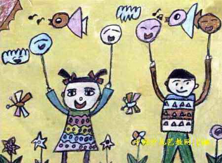 快乐的 六一 儿童画3幅 第2张