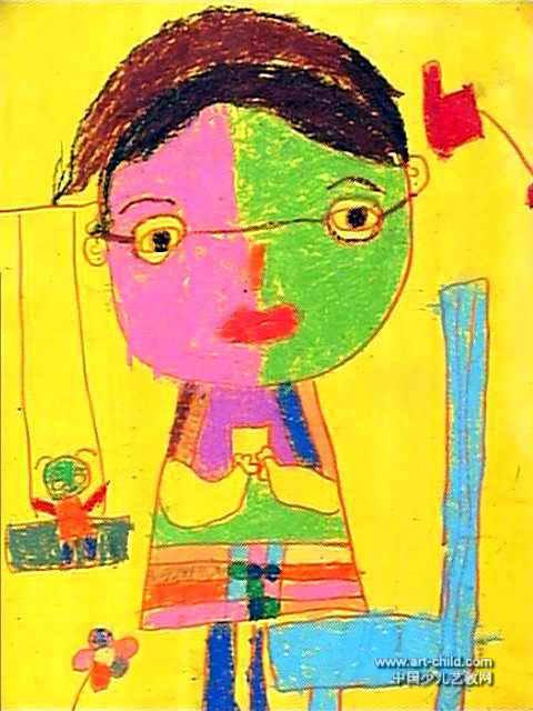 我的老师儿童画9幅(第8张)