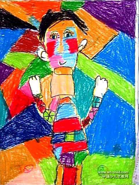 儿童画 张志伟/我的老师儿童画属于油画棒画,大小为640x480像素,作者张志伟...