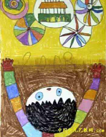 幼儿园中班动物世界创意儿童画