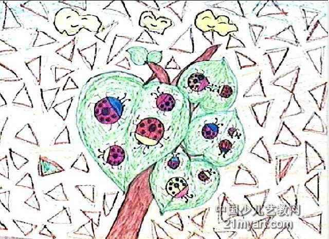 七星瓢虫本领大儿童画图片