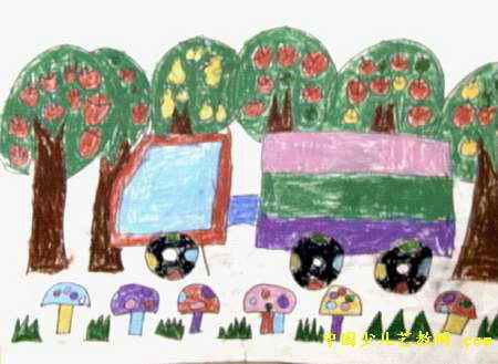 秋收儿童画属于油画棒画
