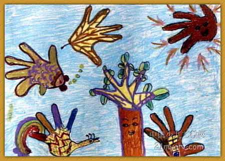 瓜果的想象儿童画内容|瓜果的想象儿童画版面设计图片