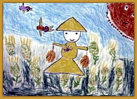 稻草人儿童画7幅 第6张