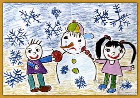 儿童画雪人的画法|卡通q版人物的画法