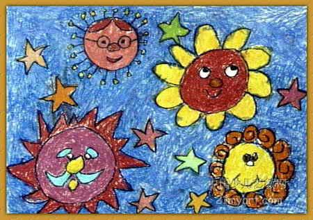 太阳总动员儿童画