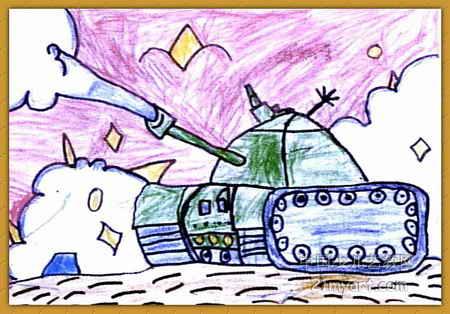 无敌坦克儿童画图片