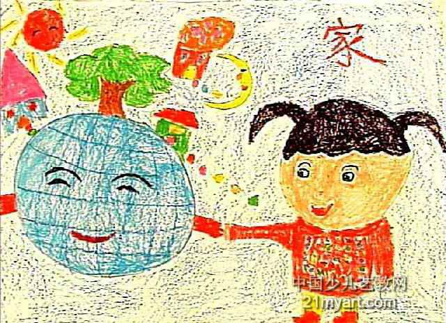 《家》儿童画作品欣赏