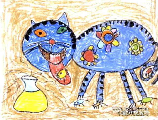 捕鼠大王油画棒儿童画