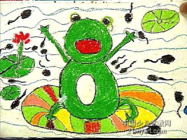 我长大了儿童画属于油画棒画,长480px,宽640px,作者刘雅雯,女,4.5岁,就读郑州市颍河路幼儿园.